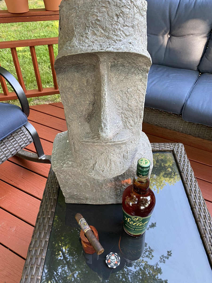 It's hot as hell. Humid too.  But I'm going to be alright  #cigar #bourbon https://t.co/kE88K1wFoe