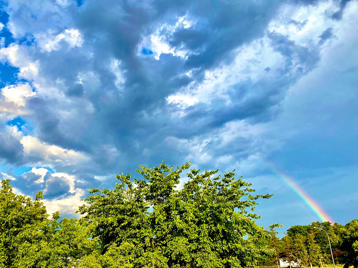 Thunder clouds shooting out a rainbow is a good life analogy.