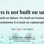 Image for the Tweet beginning: Success is not built on