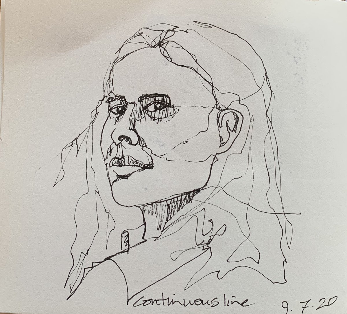 Continuous line drawing. #dailydrawing #onelinedrawing #portrait #linedrawing #continuouslinedrawingpic.twitter.com/wFXsf7sad8