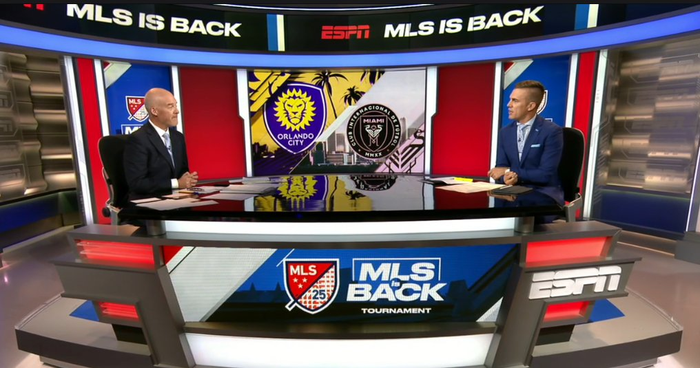 #MLSisBack and so are @JonChampionJC & @TaylorTwellman. Good to see our @MLS duo reunited for match 1: Orlando City v. Inter Miami CF coming up -8p ET, ESPN.