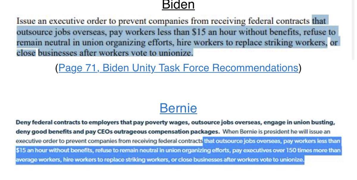 Biden copied Bernie's Workplace Democracy Plan.