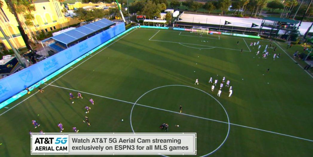 Our ESPN production team has added Aerial Cam to the camera complement for our #MLSisBack matches at @ESPNWWOS. It should provide a very cool perspective of runs, counter attacks and more.