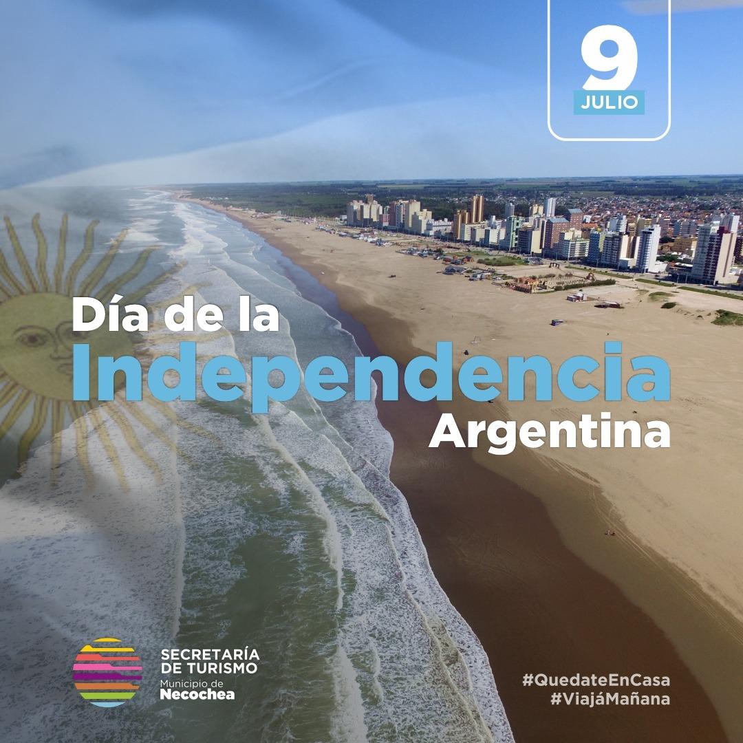 Hoy celebramos 204 años de la Declaración de la Independencia de la República Argentina.  ¡VIVA LA PATRIA! 🇦🇷 ¡VIVA LA LIBERTAD! 🌅  #LaMejorPlayaArgentina  #DiaDeLaIndependencia  #FotoArgs #Argentina https://t.co/188rjaRhUN