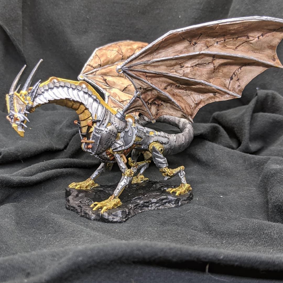 The Clockwork Dragon #miniatures #miniature #art #gamesworkshop #miniaturepainting #painting #tabletop #hobby #tabletopgames #paintingminiatures #fantasy #dnd #pathfinder #dungeonsanddragons #tabletopgaming #minis #nofilter #dragon #clockwork #clockworkdragon https://t.co/ieEKXBYksh