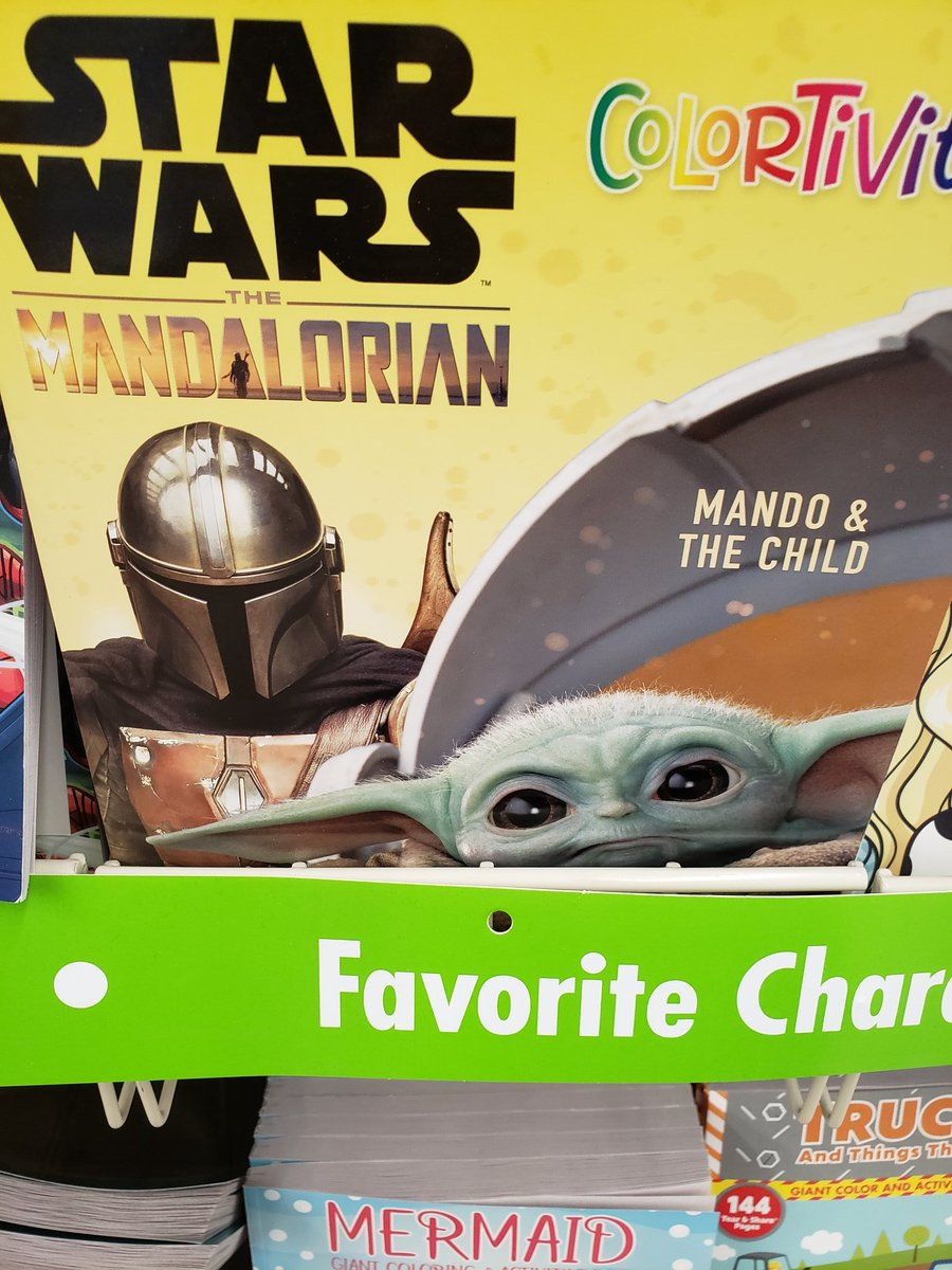 Woohoo Dollar Tree has this! #TheMandalorian coloring book!! <br>http://pic.twitter.com/FeauomlQ1H