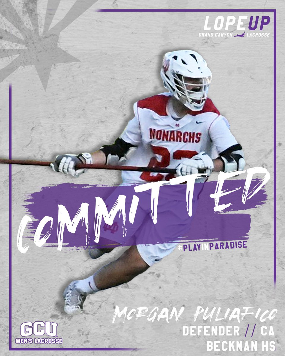 Morgan Puliafico, 2020 Defensman from Beckman HS in CA has committed to GCU! #PlayinParadise 🌴 https://t.co/oEOqHd5G1u