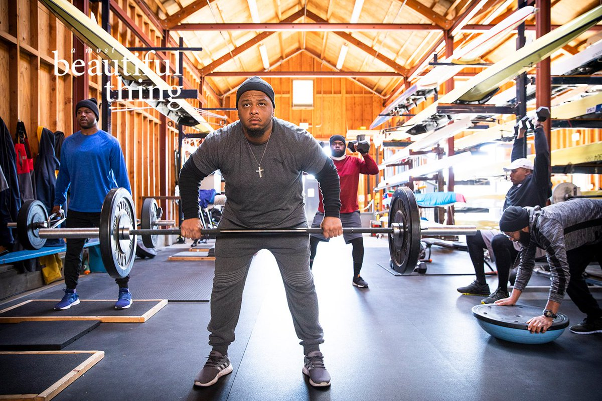 Alvin, @arshaycooper, Malcolm, Preston, and Pookie, crushing a lift in preparation for the Chicago Sprints. 📸 Richard Schultz. On location in Oakland during the filming of #AMostBeautifulThing. The documentary narrated by @common is in @AMCTheatres 7/31. https://t.co/qAqNfb66EI https://t.co/6JGG8ZEUpd