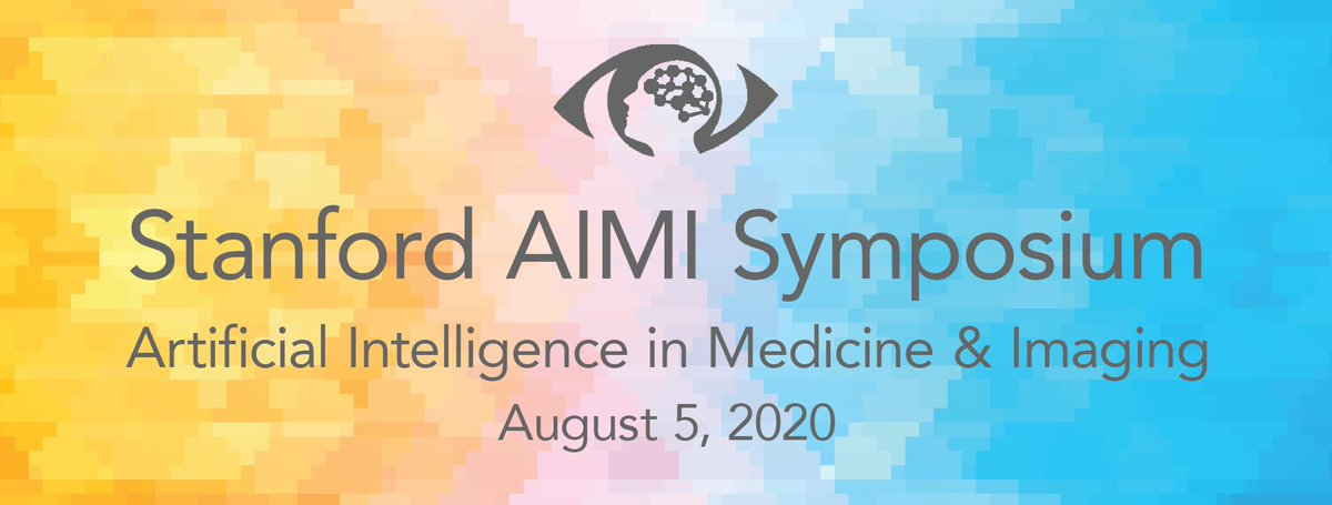 Inaugural @Stanford AIMI Symposium on Aug 5! Join us for transformative talks & discussions on the future of #AI in medicine. Exciting talks from @EricTopol @AndrewYNg @math_rachel @jeremyphoward @vivianleemd @lhpeng & many others! Free & open to all bit.ly/aimi-symposium