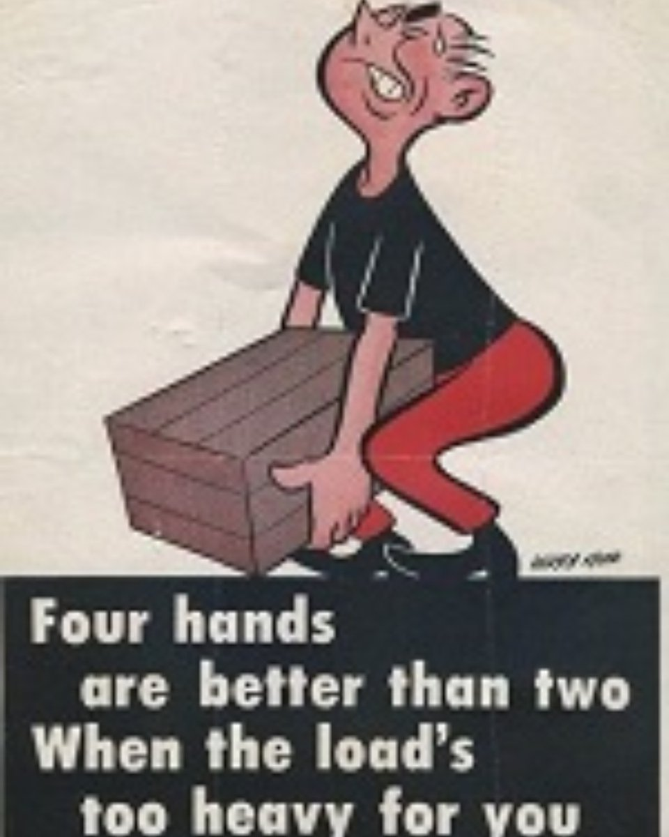 SOS Throwback Thursday: Manual tasks. Four hands for a lift is always better than two, #manualhandling #throwbackthursday #goinghome #positive #mindfulnesspic.twitter.com/Al4fhKH2gc