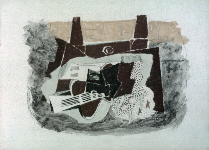 The Green Jug, 1914  https://www. wikiart.org/en/georges-bra que/the-green-jug  …  #syntheticcubism #braque<br>http://pic.twitter.com/LtVGIptkhx