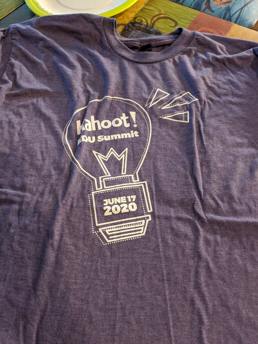 Thank you @GetKahoot for the great t-shirt!