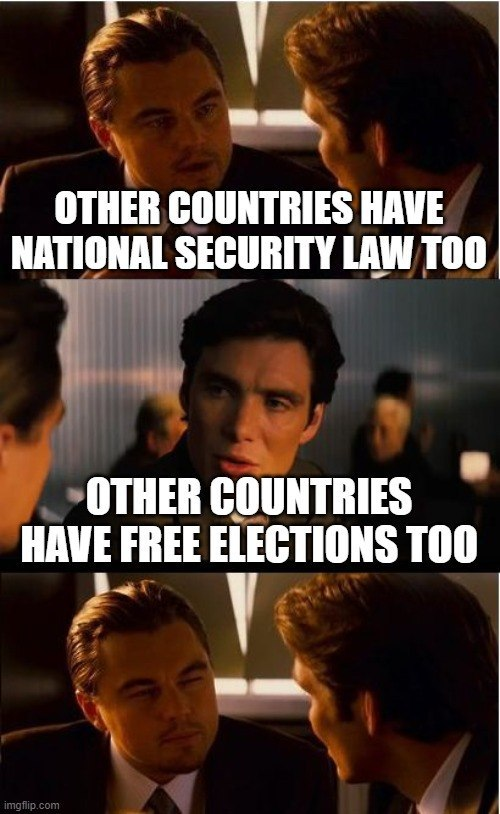 The #ccp & #HKSAR governments are shaming themselves by saying other countries have #NationalSecurityLaw too.  Your economy may be doing well, but you lag far behind them in other respects, be it #democracy or #HumanRights records.  Save your breath #OneCountryTwoSystemsIsDead https://t.co/tayUx8bVkg