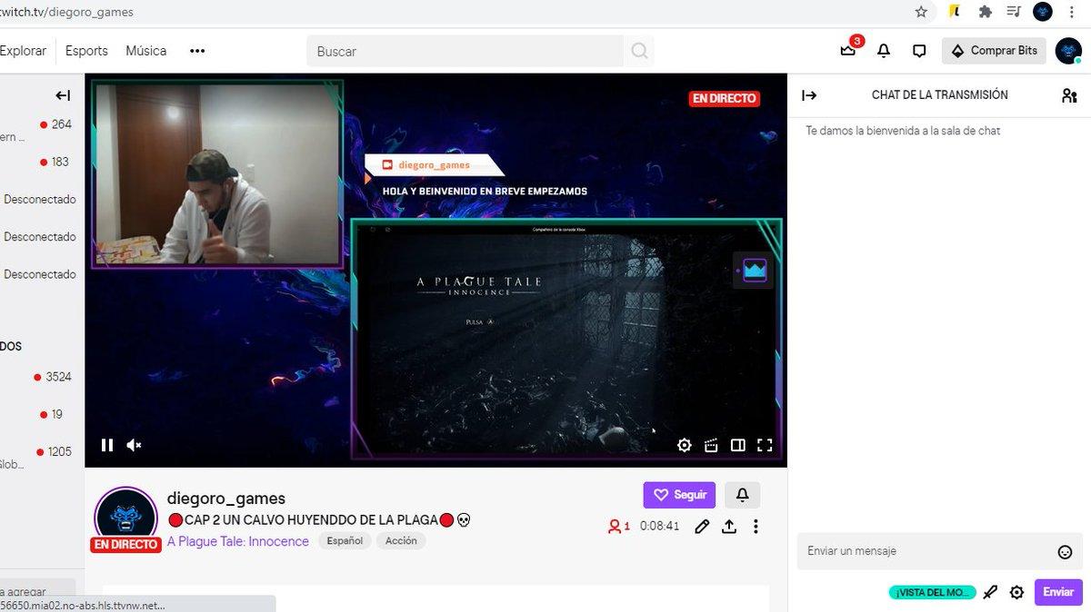 EL CALVO EN VIVO YAAA! #Livestream #Warzone  #directo #streaming #gamingchannel #XboxOne #twitchstreamer #twitch #StreamingLive #Warzone #APlagueTale   VEN Y DIVIÉRTETE http://twitch.tv/diegoro_gamespic.twitter.com/byqc8JBTGc