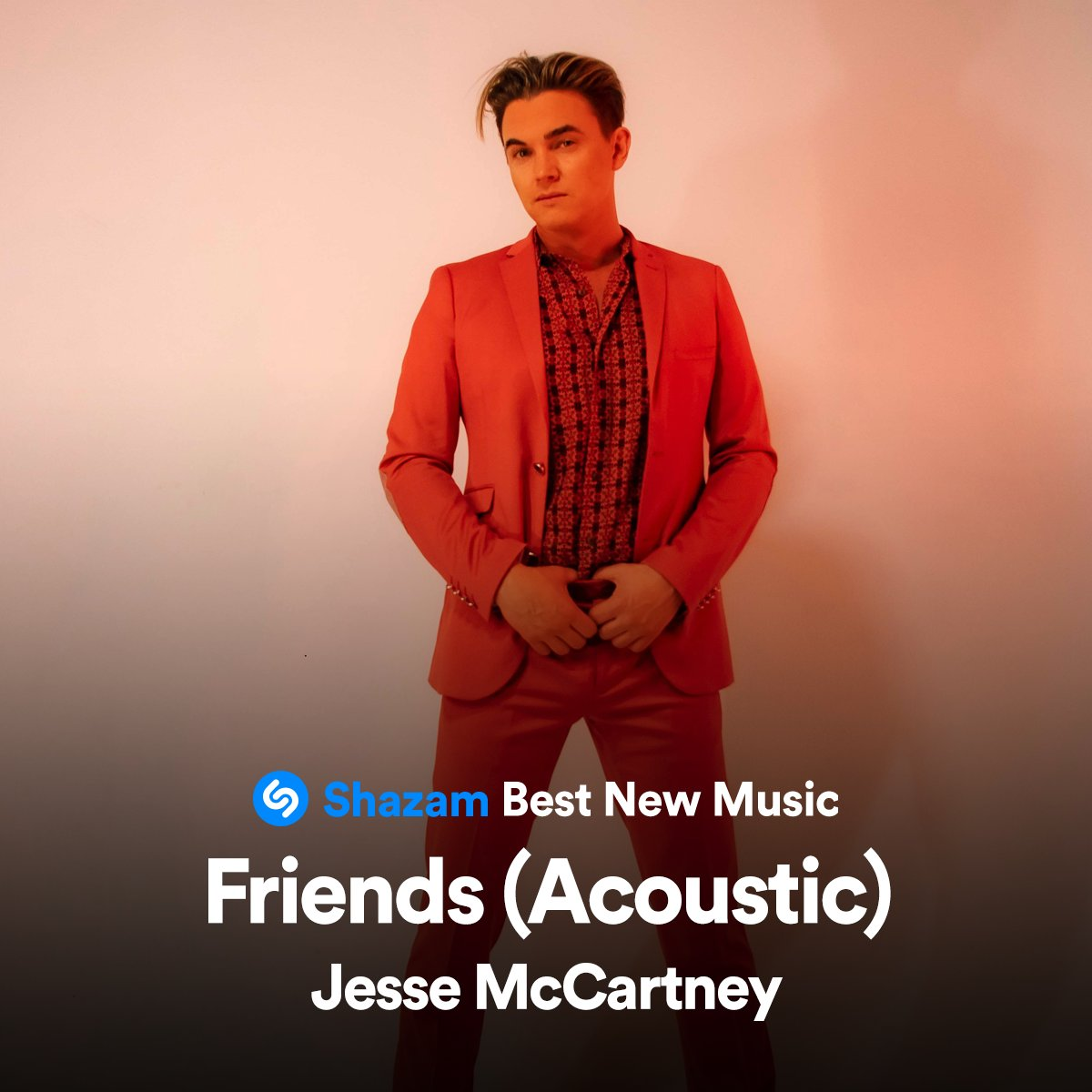 "Thanks to my friends at @Shazam, you can now listen to the ""Friends"" acoustic version on @Shazam's Best New Music playlist on @AppleMusic.   https://t.co/tH5x0YTjKi https://t.co/fzCSK9Ffvp"
