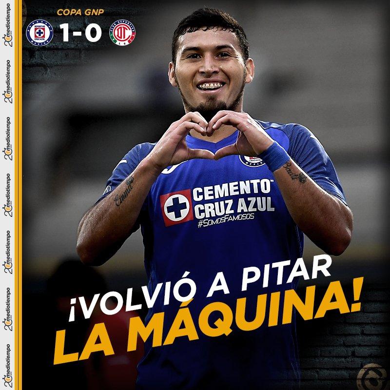 #CopaGNPPorMexico🚂🏆👹   ¡Cruz Azul derrota al Toluca con golazo de Juan Escobar!  Cruz Azul  1-0  Toluca 🔴EN VIVO: https://t.co/QXna3vA78p https://t.co/5E2gz08Ldq