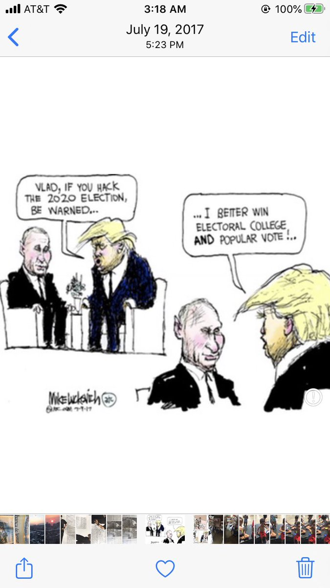 This👇🏼From a June 2017 cartoon! So on point... #VoteTrumpOut