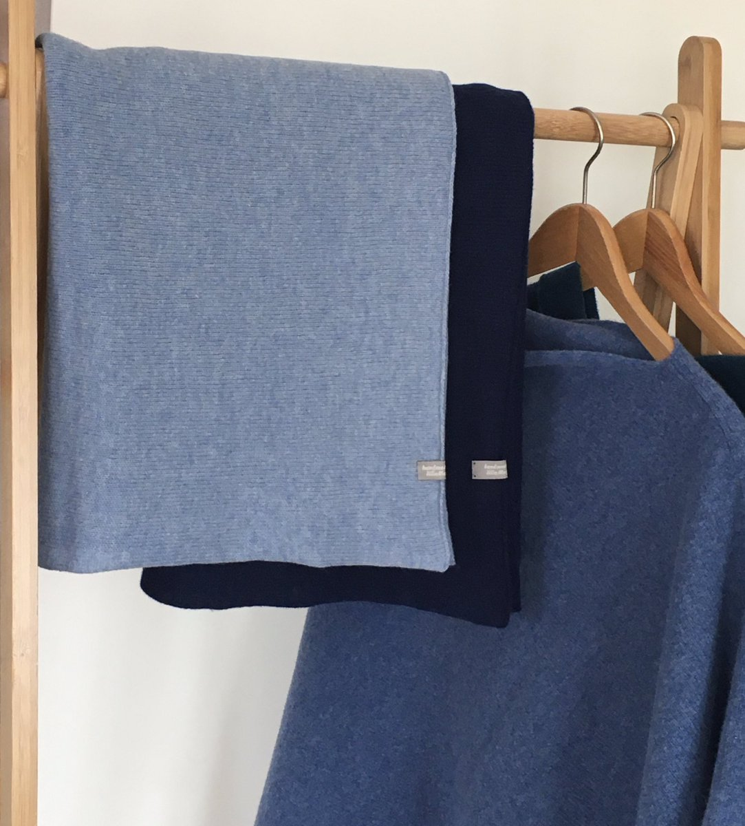 Weather changed and orders are coming in these knitted Blue Ponchos in British spun beautifully soft merino lambswool are ready for posting happy 😃 ideal summer cover up all body types! #earlybiz #etsyshop #handmade #SmallBiz #folksyshop #womaninbiz #sustainablefashion #wool