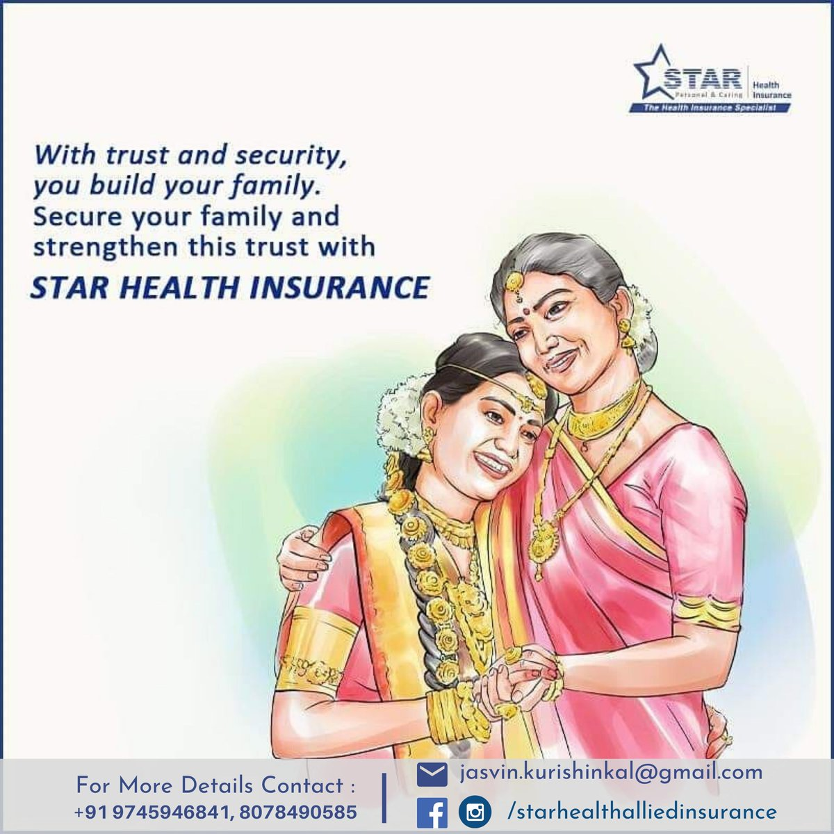 Star Health Insurance  For more contact : +91 9745946841 Or 8078490585 or Click this Link : https://forms.gle/a8Gn7RM3tv71cU8P6…  #starhealthinsurance #healthinsurance #starhealth #insurance #family #familytime #familyiseverything #familygoals #securedfamily #healthyfamily #happymomentspic.twitter.com/NFHW9aosOa