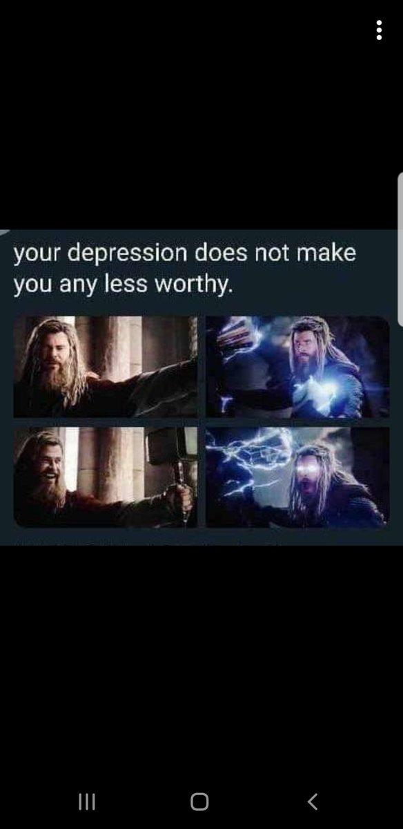 Literally one of my favorite things. #AvengersEndgame #thor #MentalHealthAwareness #depressionpic.twitter.com/p7MpZJsdW1