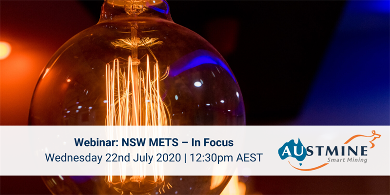 WEBINAR | @Austmine and @hub_energy present NSW METS – In Focus | Presentations and a panel featuring key industry leaders from @NSWMC, PYBAR, @ThiessMining, @Austmine and @METSIgnited looking at how COVID has affected the METS + mining sectors | 22 July | https://t.co/Rvz4yVruG8 https://t.co/5e6qk8JDgu