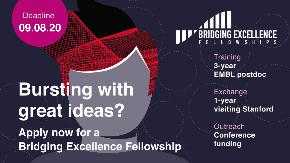 Don't miss this deadline! These fellowships are a fantastic opportunity to propose an ambitious project & develop your international profile.Looking forward to seeing exciting proposals that take advantage of the best technologies & expertise that EMBL & Stanford have to offer https://t.co/SWfNa5Jnom