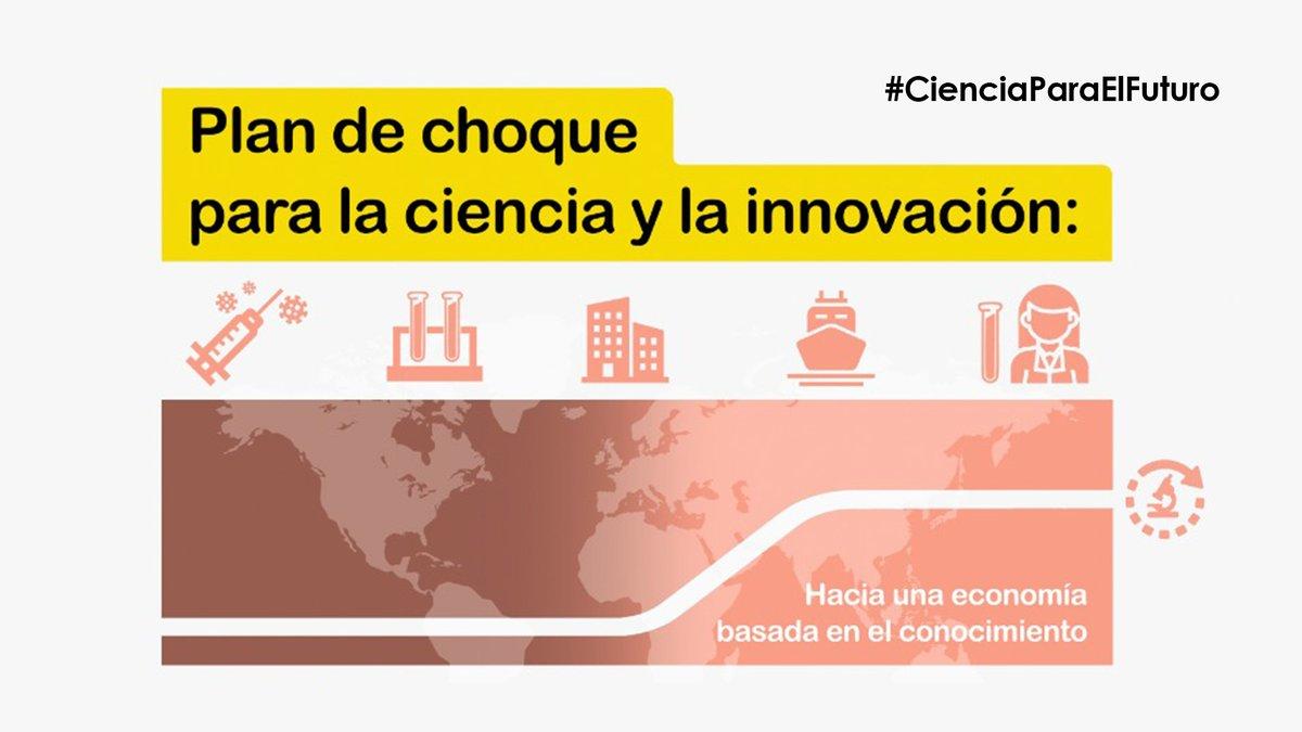 Hoy el Gobierno presenta el Plan de Choque para la Ciencia y la Innovación.  Sigue en directo la retransmisión del acto a partir de las 12h.  ➡️https://t.co/23JDXsKwVd  #CienciaParaElFuturo https://t.co/upLwFA1Jsa