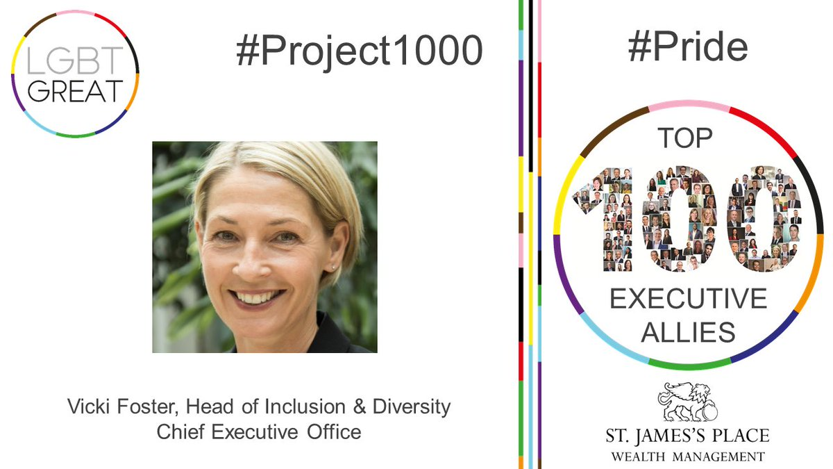 """An inclusive culture is one where people feel it's easy to belong without compromising who they are"" - Vicki Foster, Group Head of Diversity & Inclusion, Chief Executive Office, @sjpwealth #Project1000 #Pride #YouMeUsWe https://t.co/h4zmZbRJwZ https://t.co/lM4e3YcUD7"