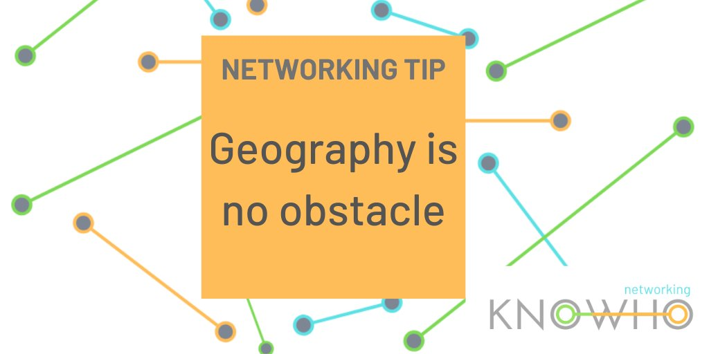 #Networking remotely means you don't have to worry about travel! Start building your network in a new region by attending #DigitalNetworking events hosted from a new city...you never know who you might meet!  #NetworkingTips #RemoteNetworking https://t.co/QvCzm52rBj