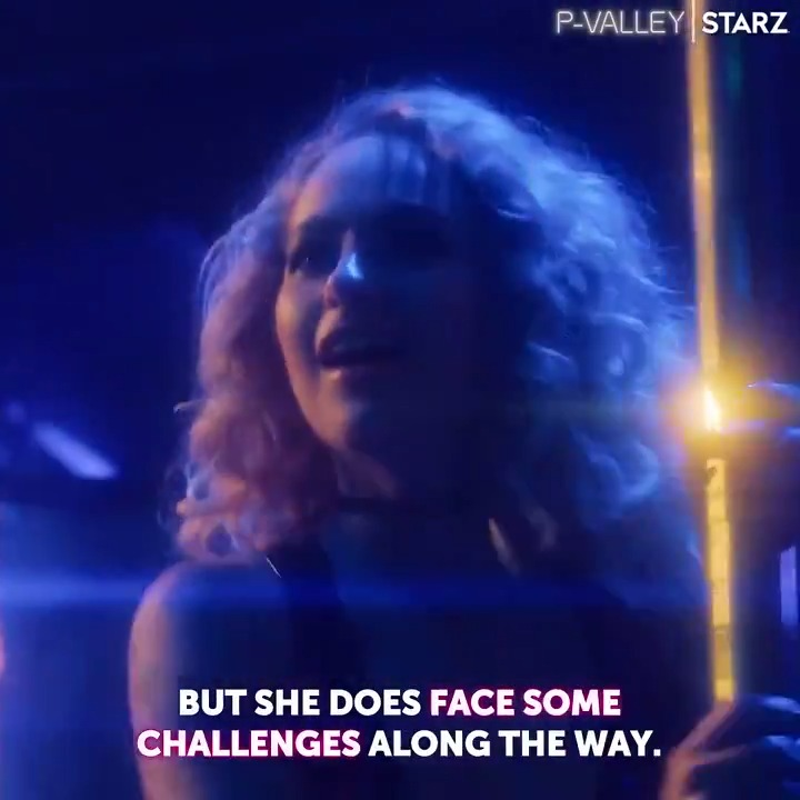 It takes strength to do what she do on that pole. @SkylerJoy plays the fearless Gidget on #PValley, premiering this Sunday on @STARZ.