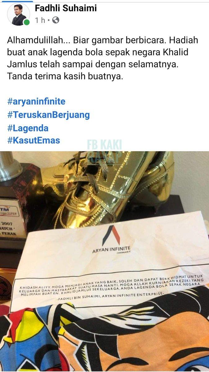 Ada netizen yg simpati dengan pemain bola sepak #KhalidJamlus #aryaninfinite #harianmetro #Astros #bernamatv https://t.co/frL12vCEyn