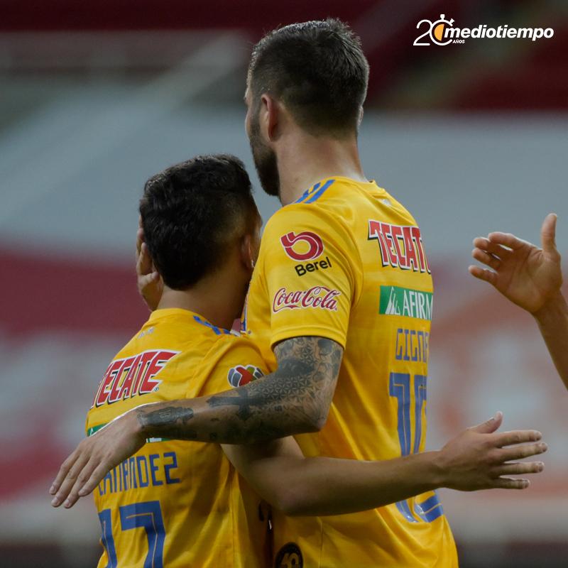 🐯¡DUPLA FELINA!🐯  Leo Fernández y André-Pierre Gignac se conectaron como con los ojos cerrados para vacunar a Chivas en la Copa GNP y auguran muchos dolores de cabeza para los clubes de la LIGA MX en el Guard1anes 2020. 💥⚽️  https://t.co/9dFS7gdhxS https://t.co/YyfdVHXx3C
