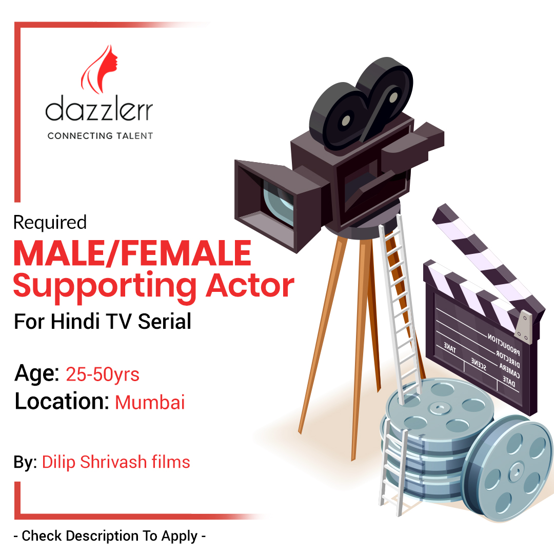 Required Male/Female Supporting Actor For Hindi TV Serial . We are looking for fresher and experienced male/female supporting actor for Hindi TV serial. . Apply Now-https://t.co/2Pzsra1j5d Type this url in chrome to open . #Actor #Actress #FashionModel #Dazzlerr #Dazzlerrofficial https://t.co/UkhNbdAUSN