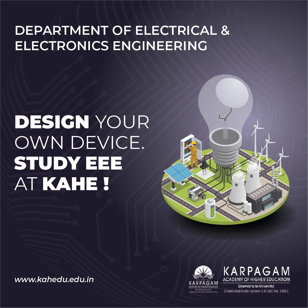 EEE is all about learning and making devices and equipment that uses electricity and electronics.  https://kahedu.edu.in/   #electronicsengineering  #electronics #engineering #electricalengineering #technology #electrical #electronicsolution #engineers #electronicsprojectpic.twitter.com/CJgYPRwp8y