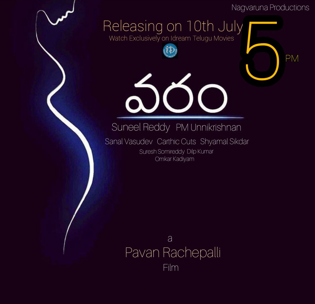 """""""Varam"""" a short & well written concept hitting YouTube screens associated with @iDreamMedia Tomorrow..!  Produced by : @suneelvenkat Written & Directed: @rachepallipavan  Teaser here: https://youtu.be/zDLTLlFVsME Please Watch and Do Support us...! Thnq all #TeluguFilms pic.twitter.com/s5SW9uiO6t"""