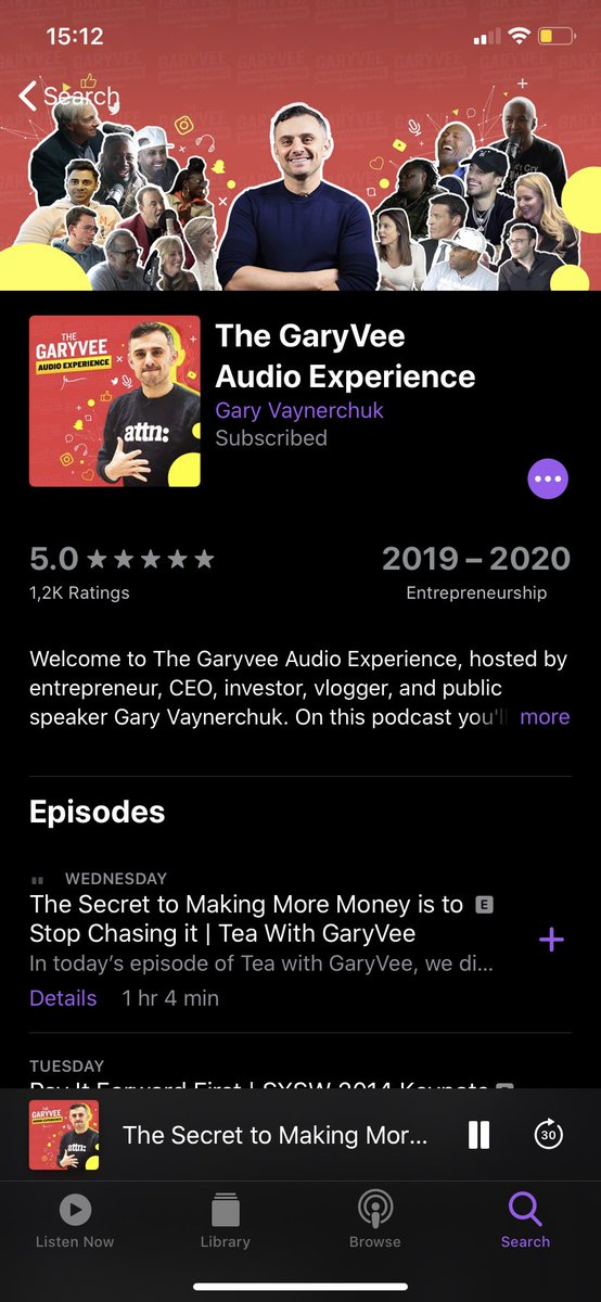 Can't recommend this podcast highly enough if you're making your own way in the world 🤘 #garyveepodcast #TeawithGaryVee @garyvee @TeamGaryVee https://t.co/27mCSzLqJC