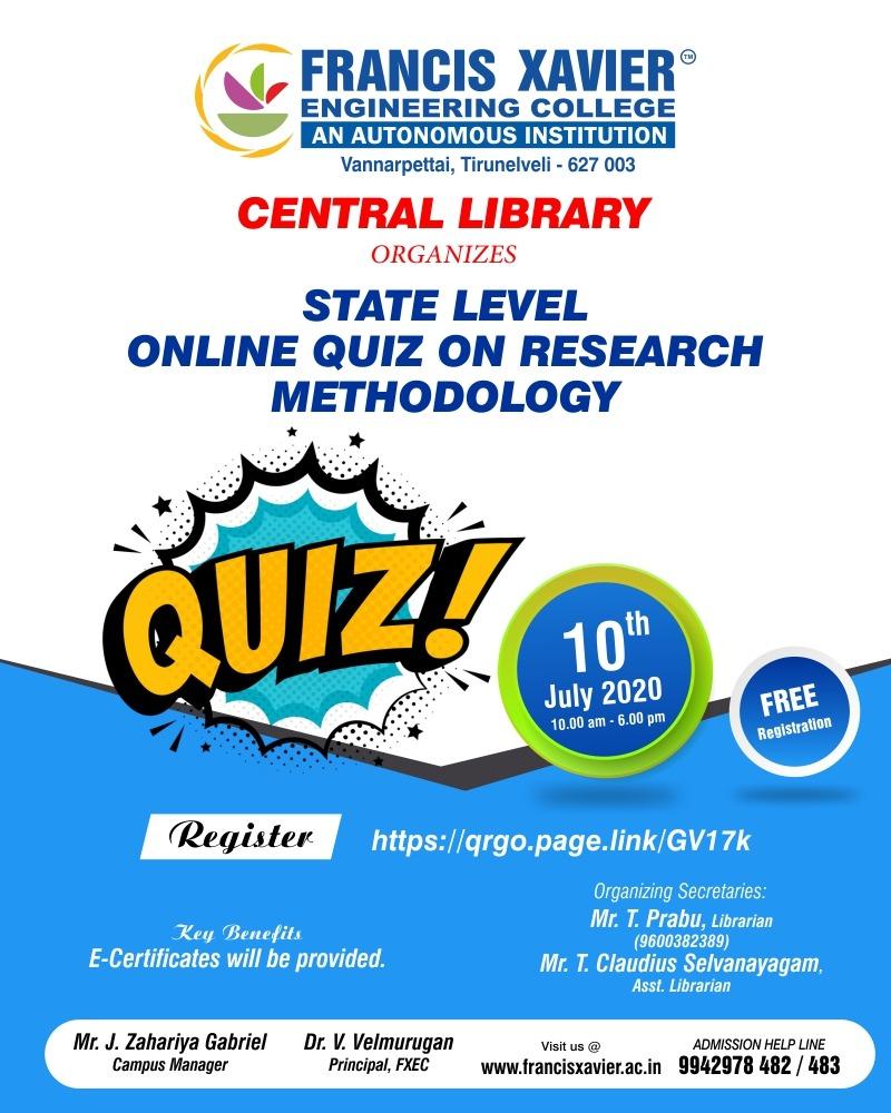 #fxec #online #engineering #college #success #dream #today #life #registernow #lockdown #admission2020 #admissionopen #Tirunelveli #library #quiz #statelevel #onlinequizpic.twitter.com/712I6jkC0t
