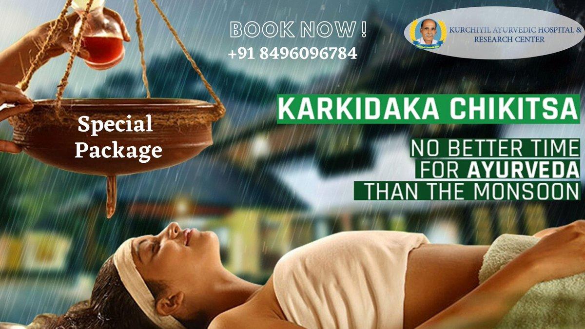 കർക്കിടക ചികിത്സയിലൂടെ ആരോഗ്യം വീണ്ടെടുക്കൂ Call now for your booking: +91 8496096784 / +91 04862-236123 http://www.kurichiyil.com info@kurichiyil.com #breakthechain #covid19 #ayurveda #idukki #AyurvedicTreatmentinKerala #karkidakam #mansoontreatment #specialoffer #specialpackagepic.twitter.com/CfjUbUC2jC