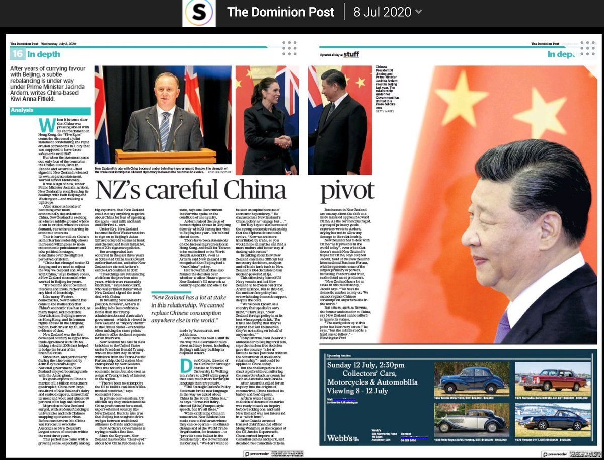 Got a thrill to see my second-to-last story from New Zealand get a double page spread in the Dominion Post and the Press this week. One more New Zealand story to run... https://t.co/gyAiRBlL35