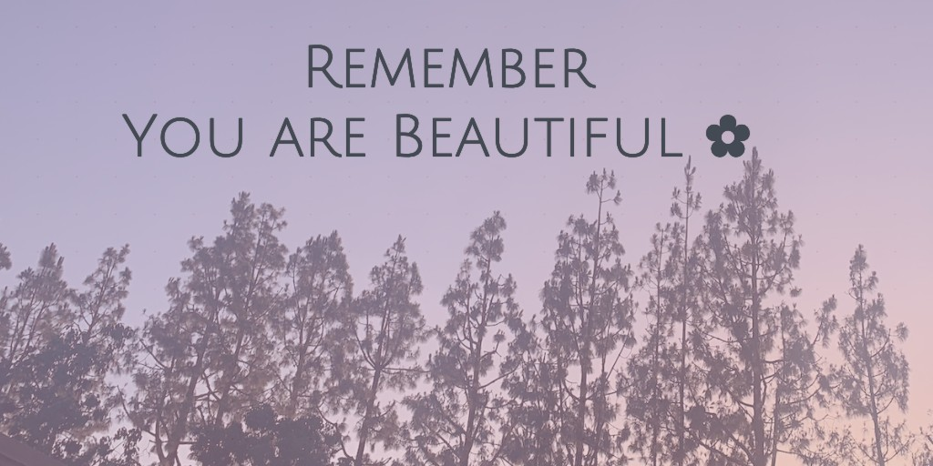 Remember you are beautiful! #loveyourself #beautiful pic.twitter.com/4XYiLFnaZM