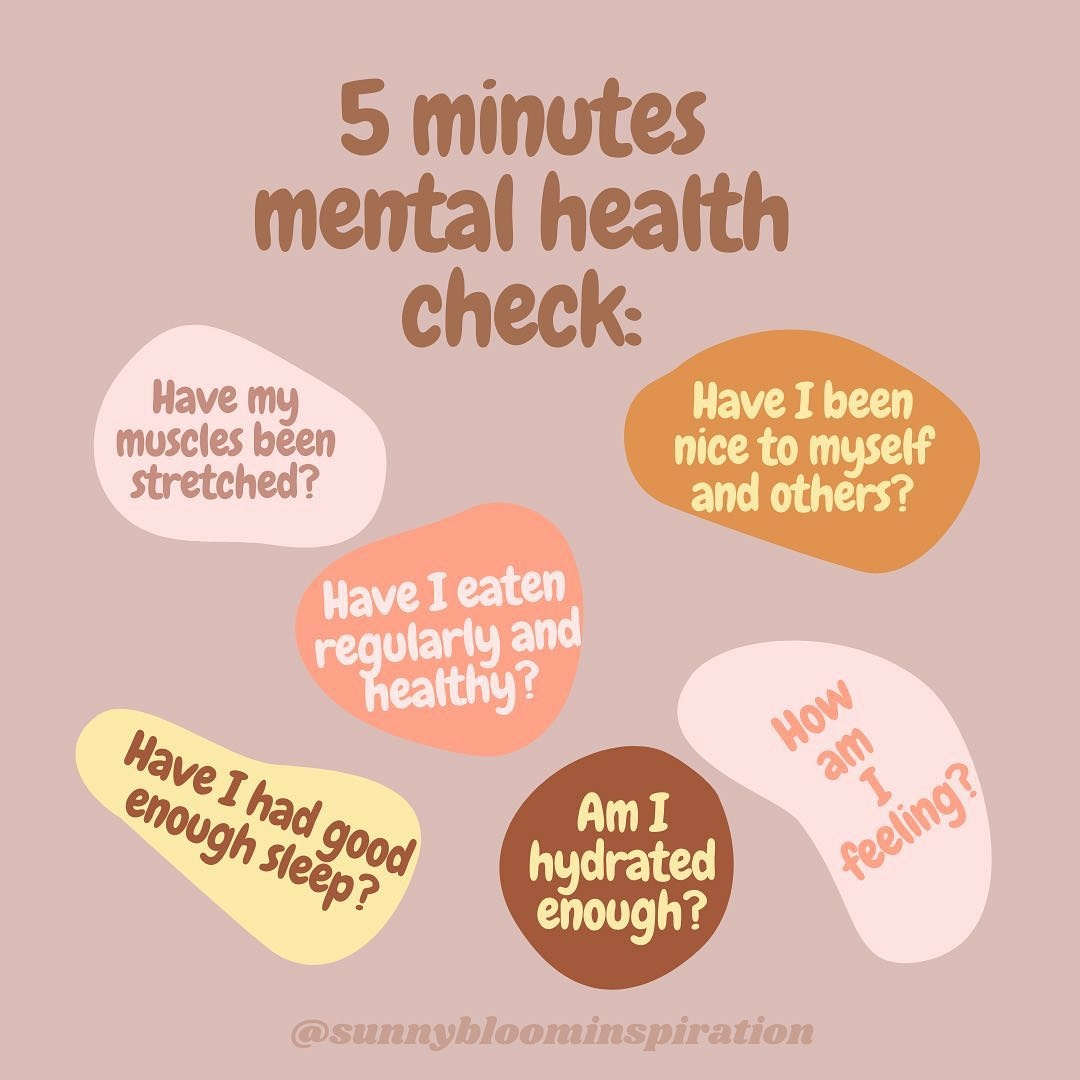 Take 5 minutes to check your mental health. Taking care of your mental health is paying attention and taking care of your whole body!  #mentalhealthquotes #mentalhealthawareness #mentalhealthblogger #mentalhealthrecovery #mentalhealthadvocate #anxietywarrior #mentalhealthjourneypic.twitter.com/9xxxYBv5gB