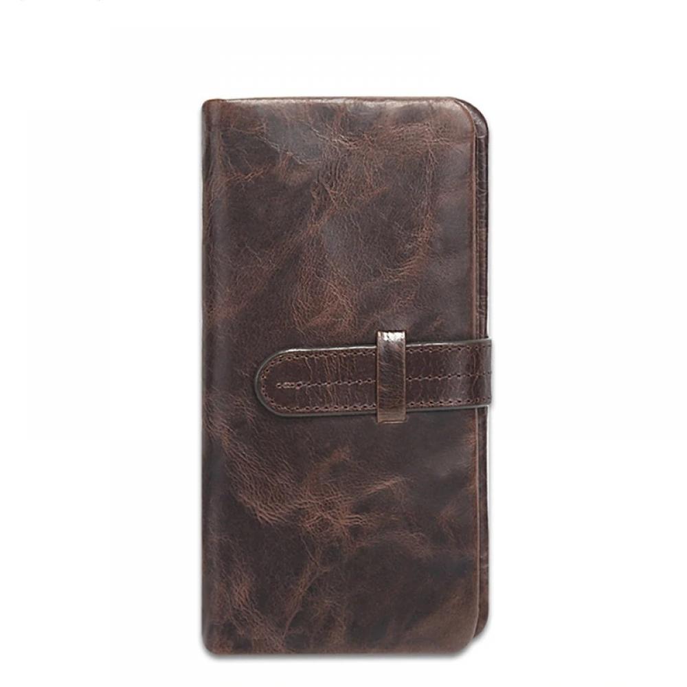#food #tflers Vintage Genuine Leather Long Wallet for Men