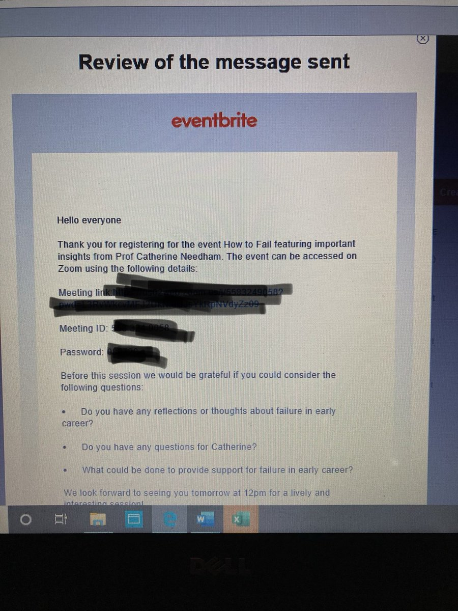 So pleased you could join the session in the end! Pls let us know if you didn't receive the 'joining instructions' eventbrite email sent 8.7.20 (see below) & we will look into things with Eventbrite - thxpic.twitter.com/2nyZhN8O41