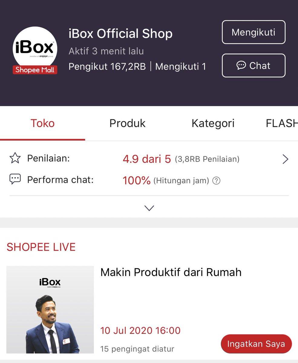 Beso' Live di @iBoxIndonesia Official Shop di @ShopeeID yuk. Ngobrol2 Apeleapele. https://t.co/7zMVl03Mf3
