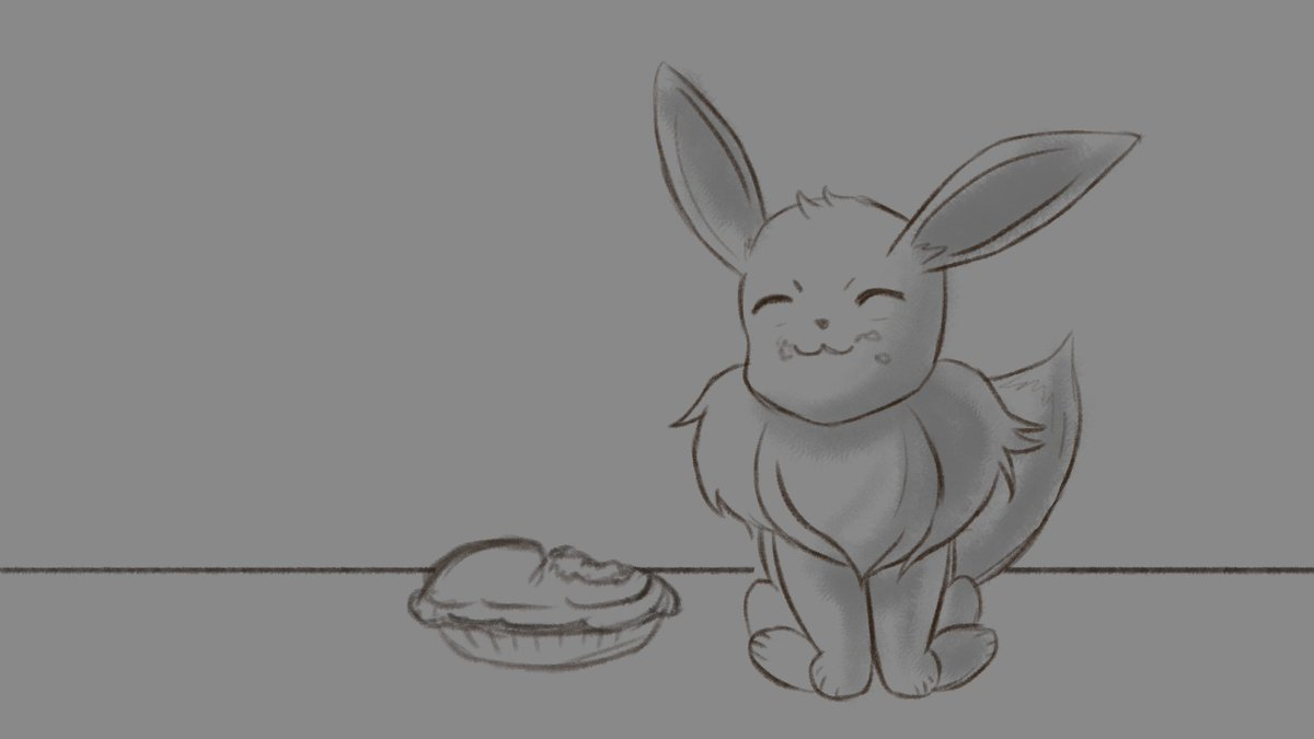 Quick eevee sketch Did this on @beclet_ stream #art #sketch