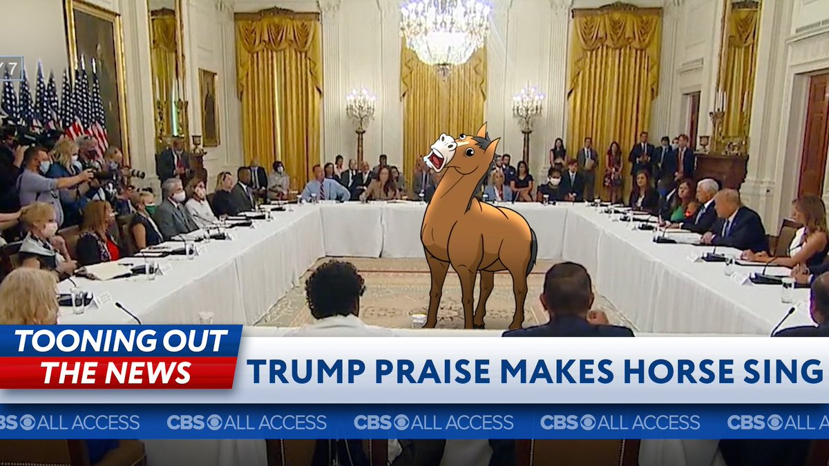 What if Trump ass-kissing garbage made a horse sing?