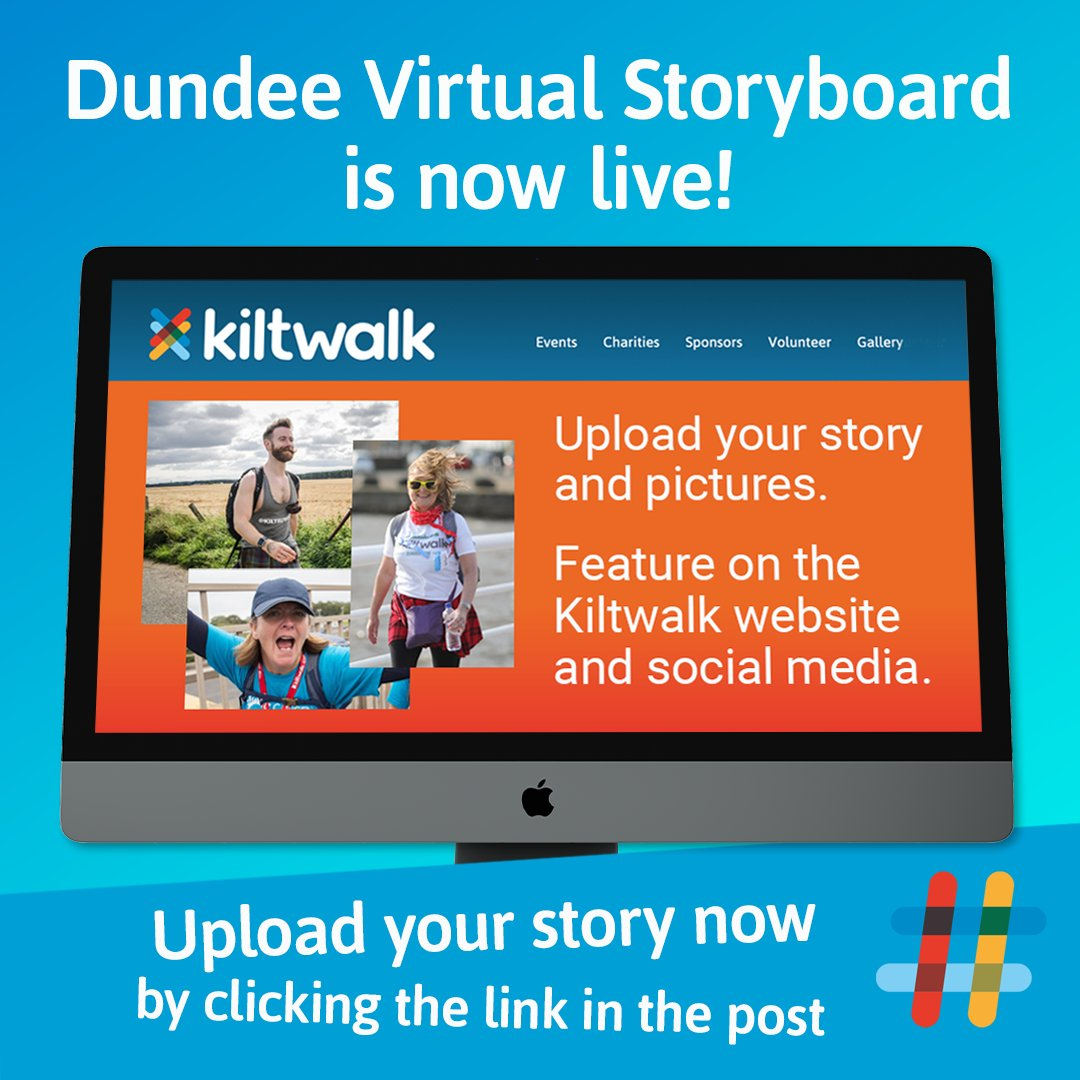 Check out our Virtual Storyboard to revisit some highlights from the first-ever Dundee Virtual Kiltwalk. And if you took part, add your story! Check it out 👉   #VirtualDundeeKiltwalk