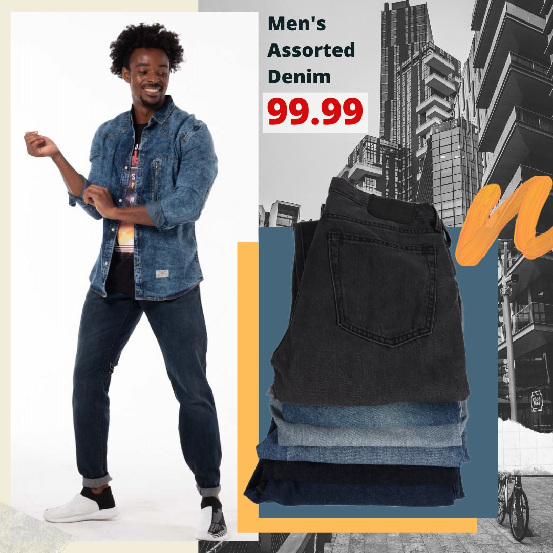 Men's Assorted Denim Jeans...ONLY 99.99 💥 Promo valid until 23 July or while stocks last. #choiceclothing #wearchoice #mensfashion #denims #jeans