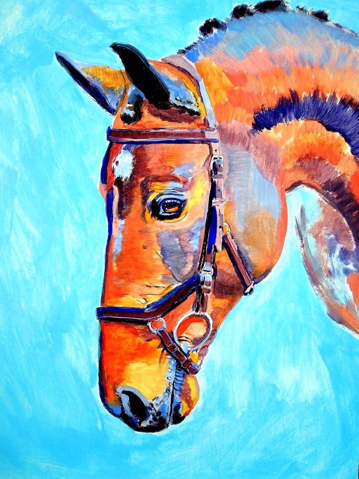 """Arching Grace With Blue"" 24 x 19 inch ink and acrylic on paper #ink #inked #inkedart #drawing #drawings #painting #paintings #horses #equestrian #horseart #equineart #horse #equine #art #artist #artists #artwork #artstudio #fineart #contemporaryart #animals #animalart #portraitpic.twitter.com/KhhLk5IVoW"