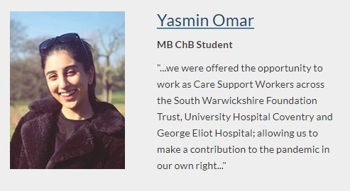 Our latest profile is of MB ChB student Yasmin who has shared a reflection on her experience during the Covid-19 pandemic: https://t.co/RXdkOFEdS6 https://t.co/gMg4ahsfrW